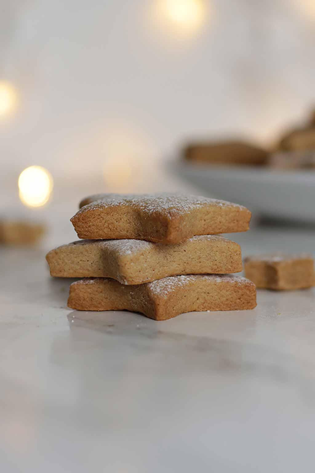 stack of 3 Vegan Cinnamon Cookies