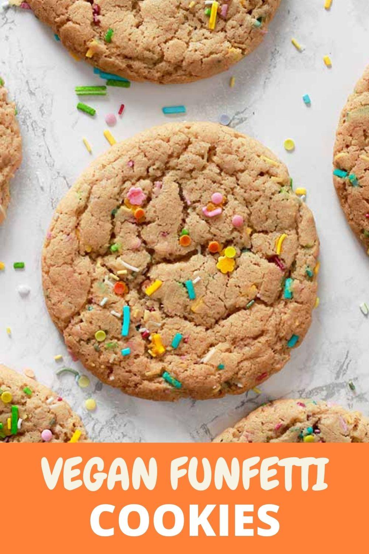Vegan Funfetti Cookies Pinterest pin
