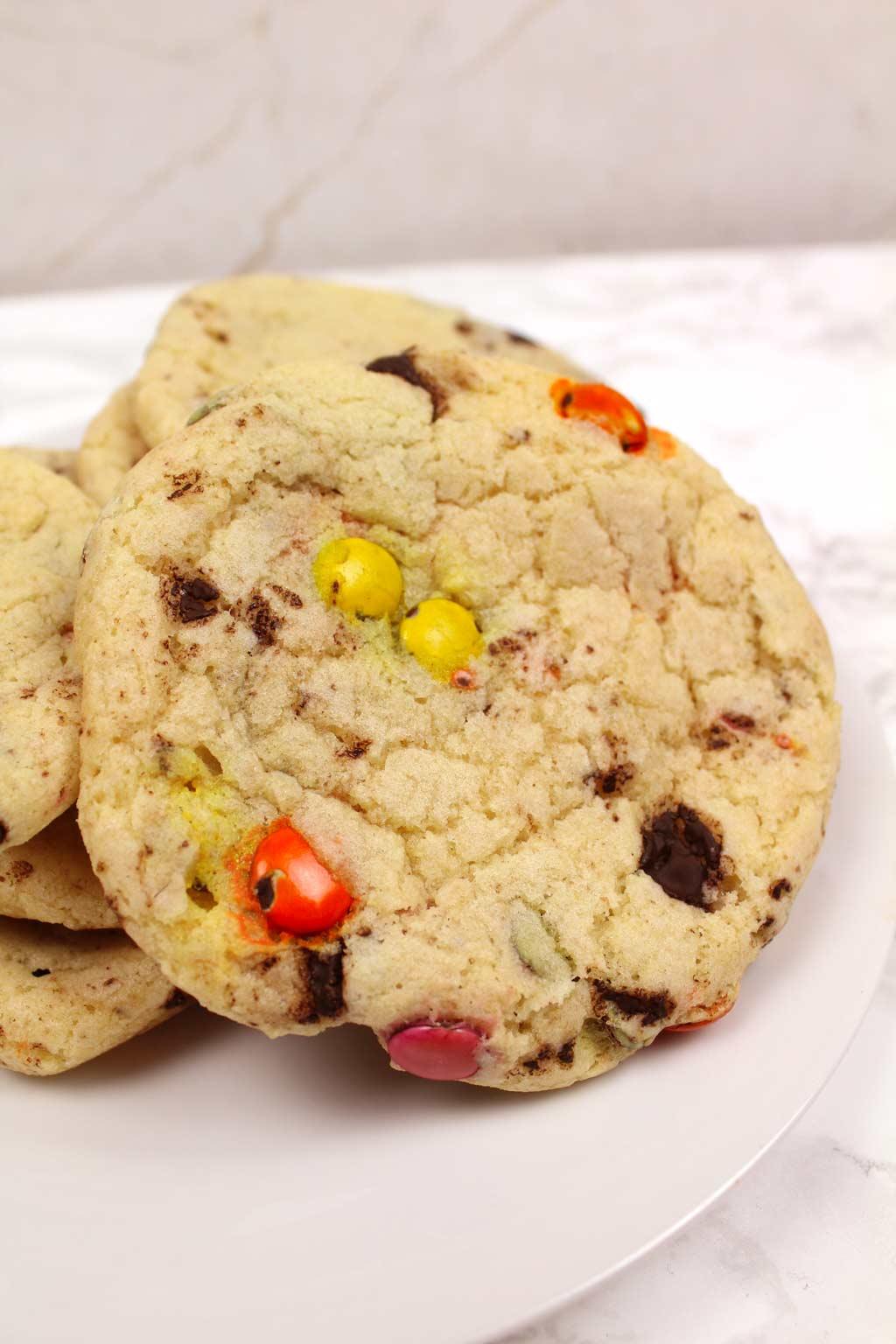 Vegan Smartie Cookies