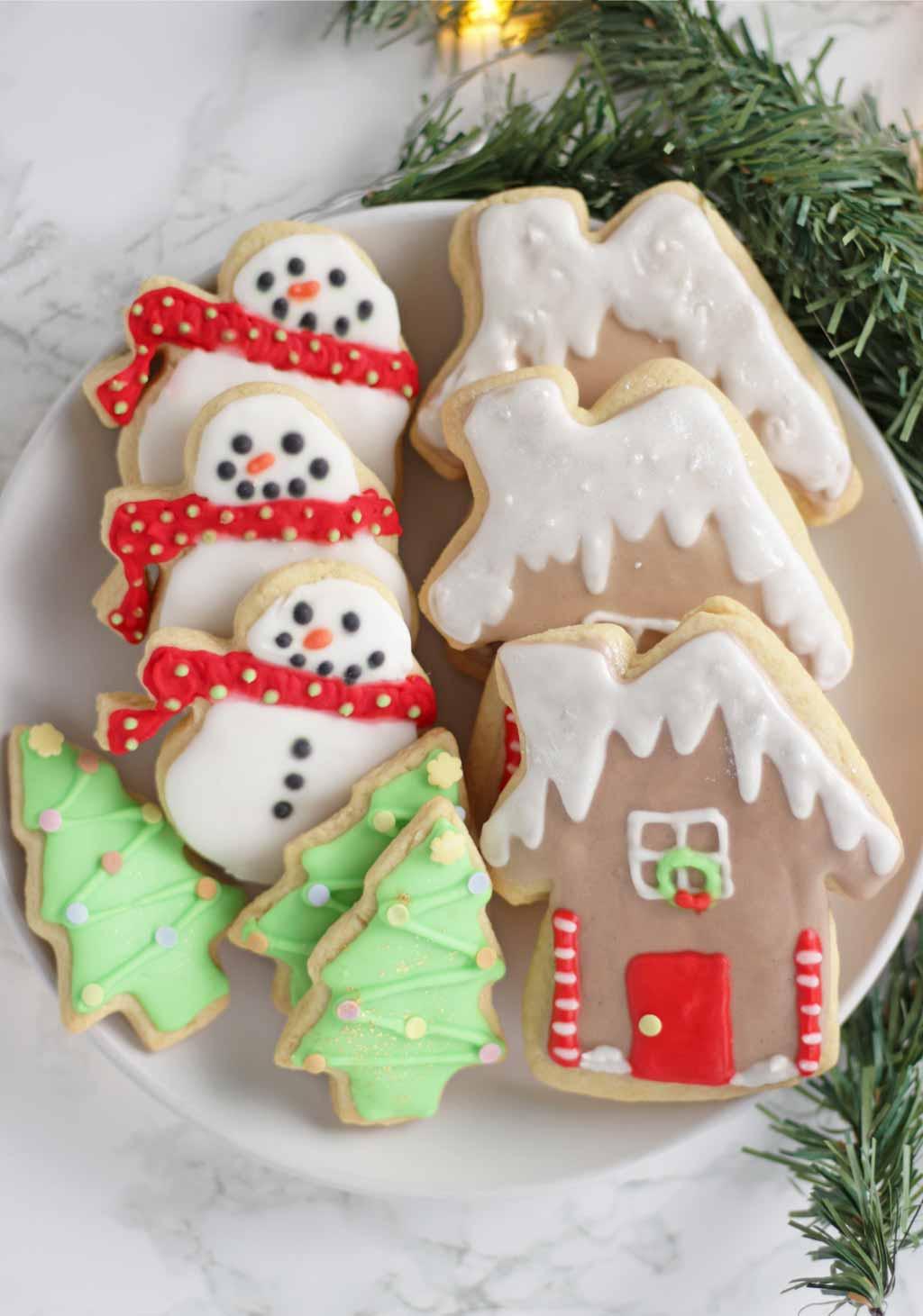 Vegan Sugar Cookies On Plate