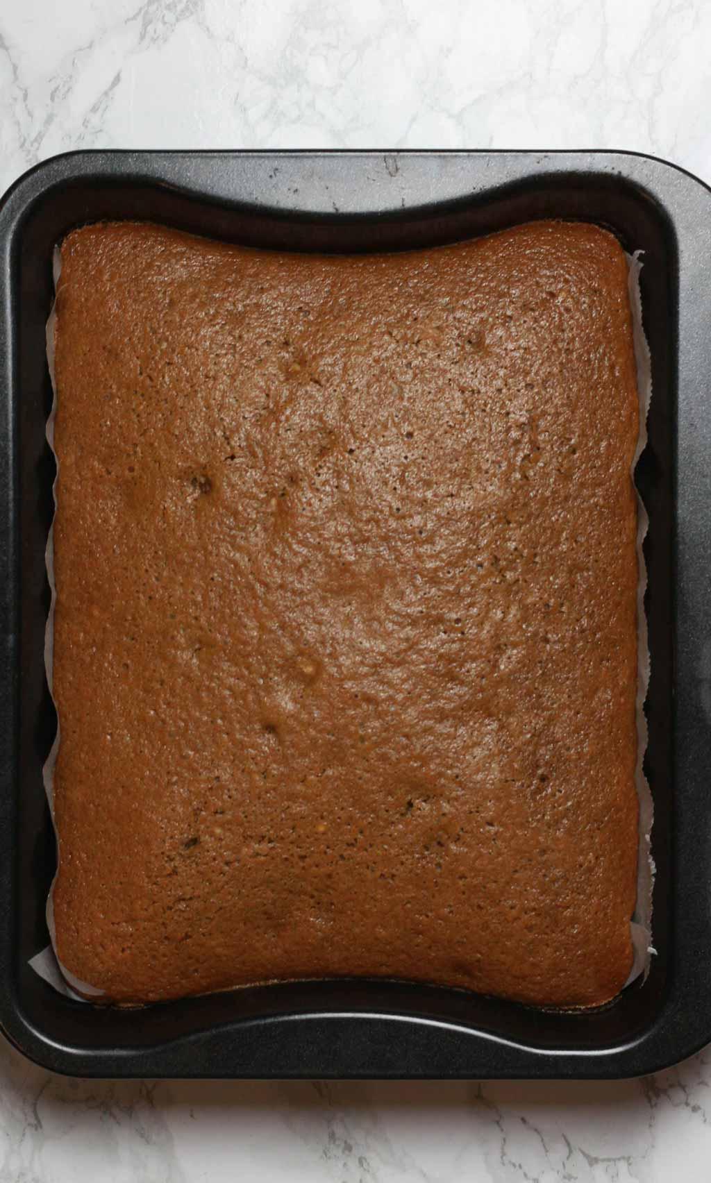 Baked Cake In Tin