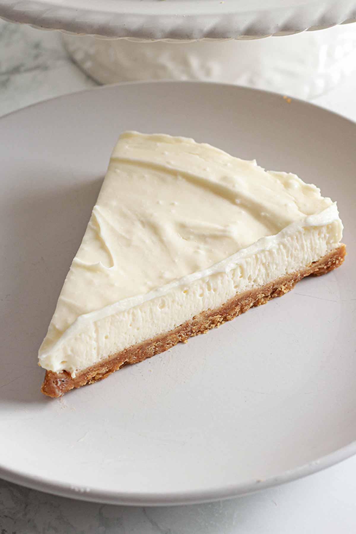Slice Of Vegan vanilla Cheesecake