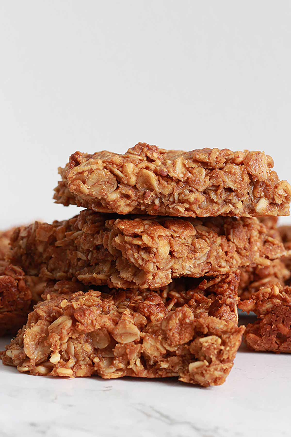Stack Of Peanut Butter Flapjacks