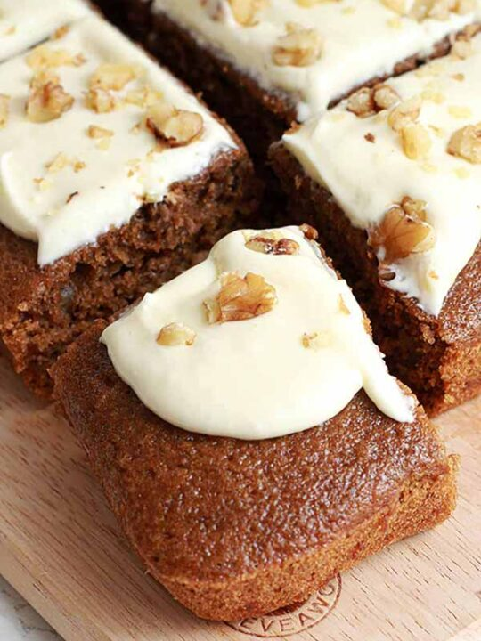 Thumbnail Image Of Vegan Coffee And Walnut Cake Slices