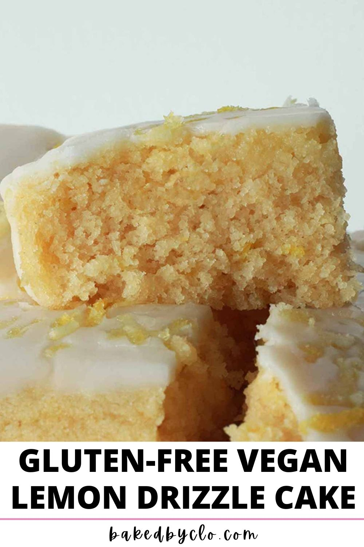Vegan Gluten Free Lemon Drizzle Cake Pinterest pin