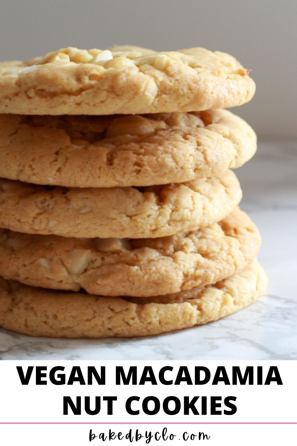 Pinterest Pin- image of stack of 5 cookies