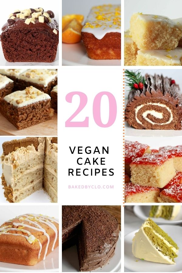 Pinterest Pin Of 10 Vegan Cake Images In A Grid