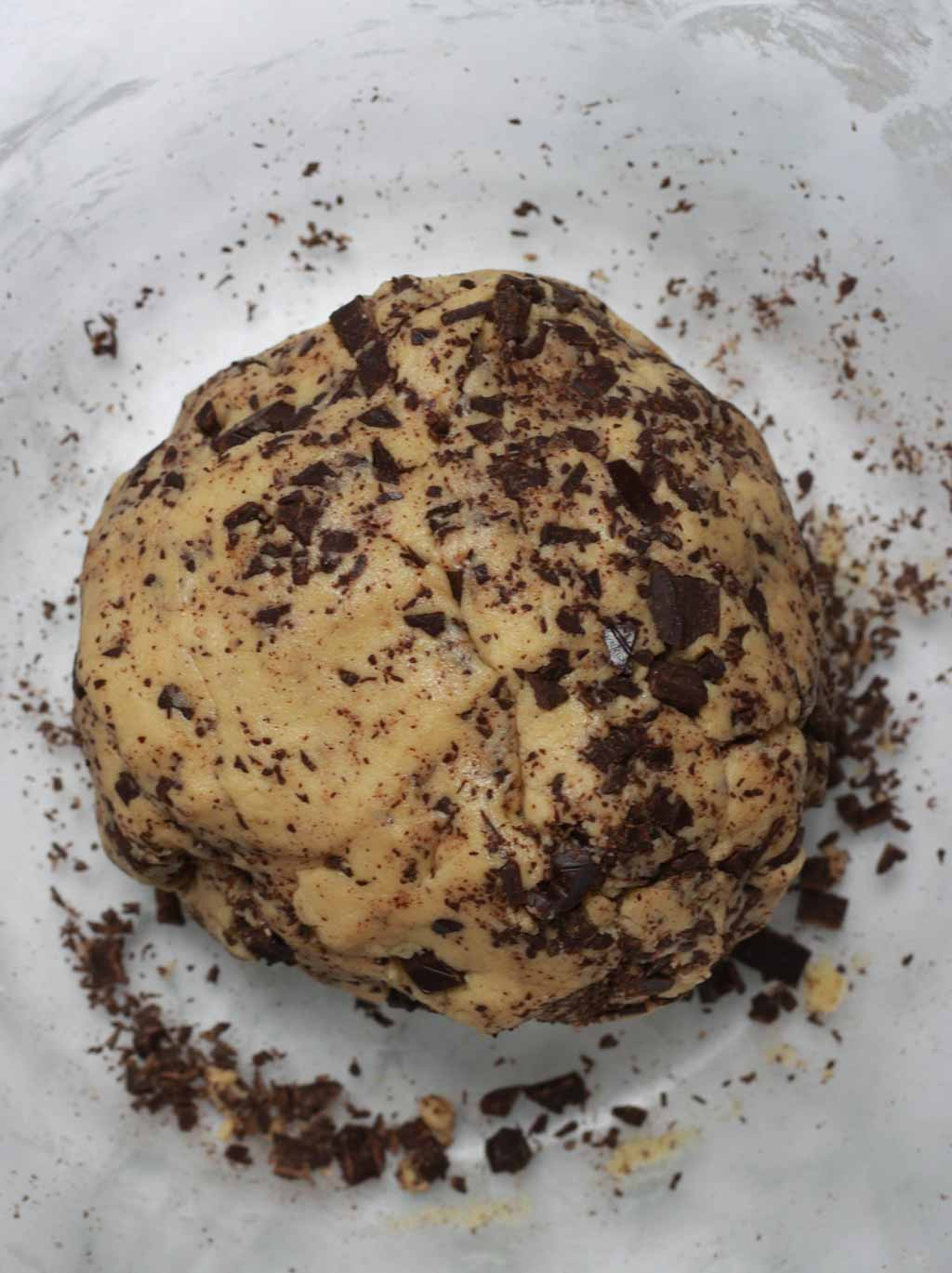 Ball Of Chocolate Chip Gluten Free Cookie Dough