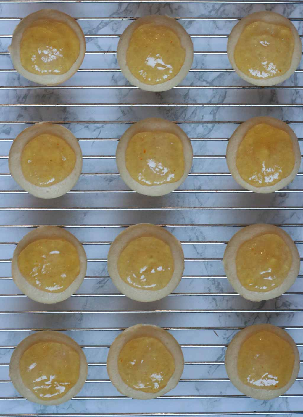 Circles Of Marmalade On Top Of The Cakes