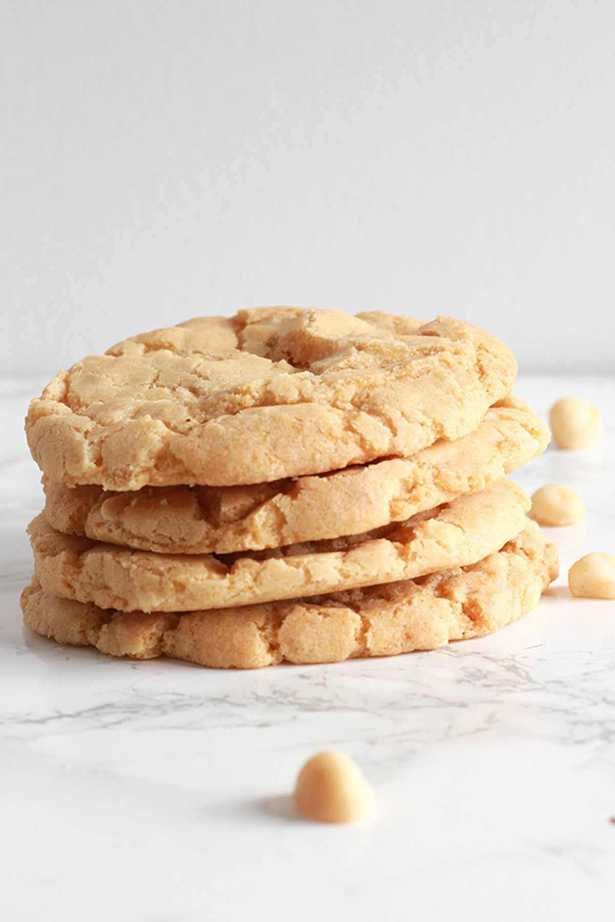 Stack Of 4 Macadamia White Chocolate Cookies