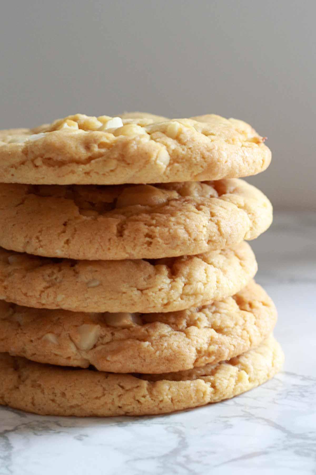 Stack Of 5 Macadamia Cookies