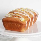 Thumbnail of loaf cake with drizzled white icing on top