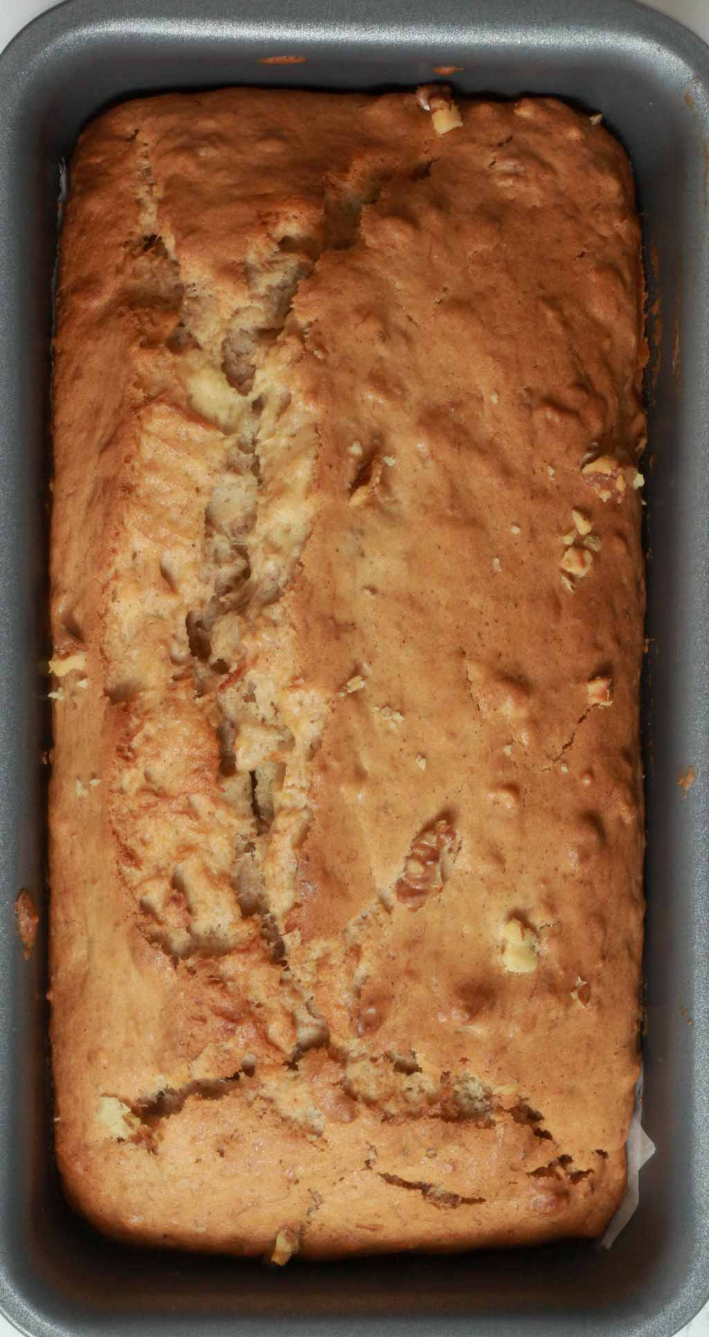 Baked Banana Bread In Loaf Tin