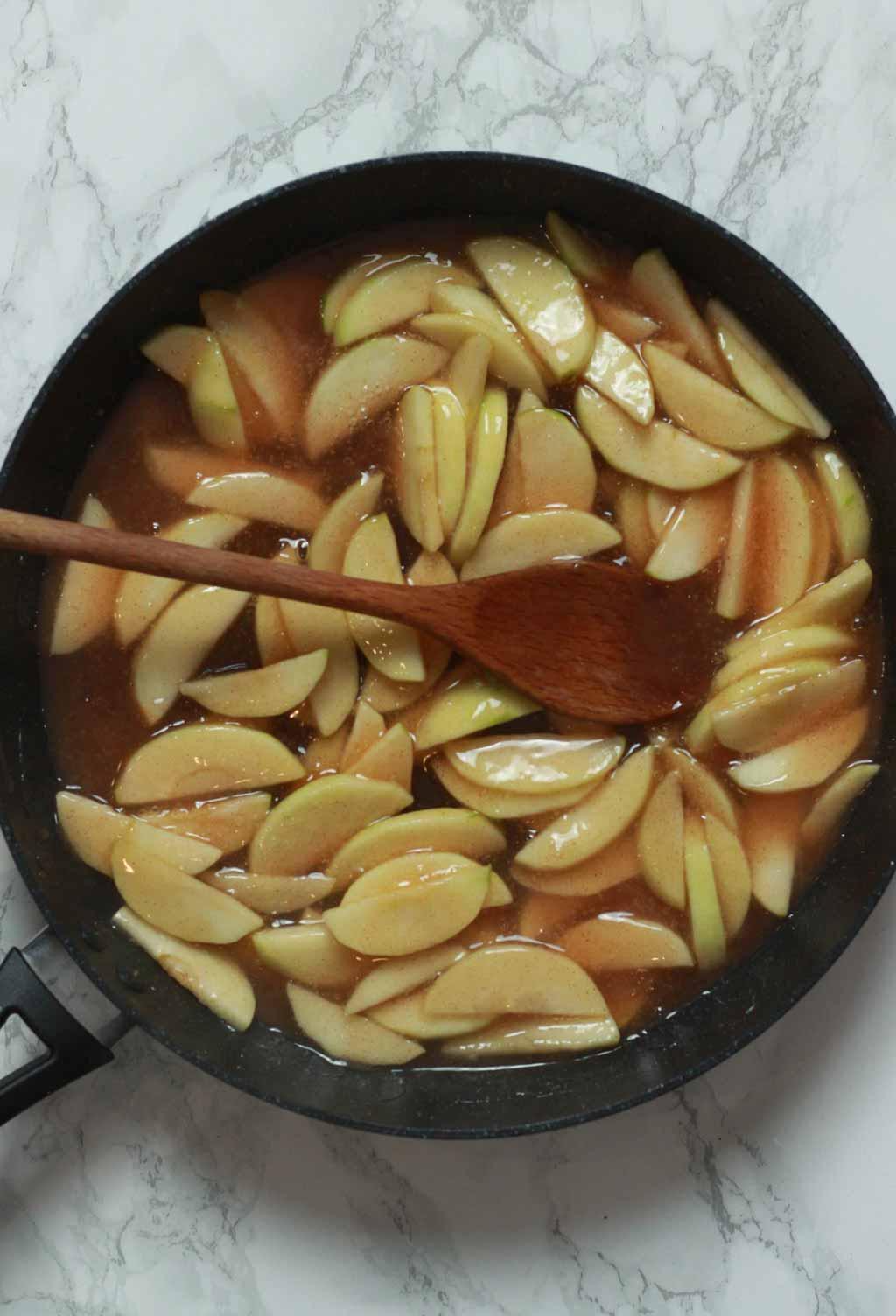 Apple Filling In A Pan